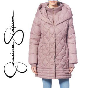 NWT JESSICA SIMPSON Dusty Pink Puffer Coat